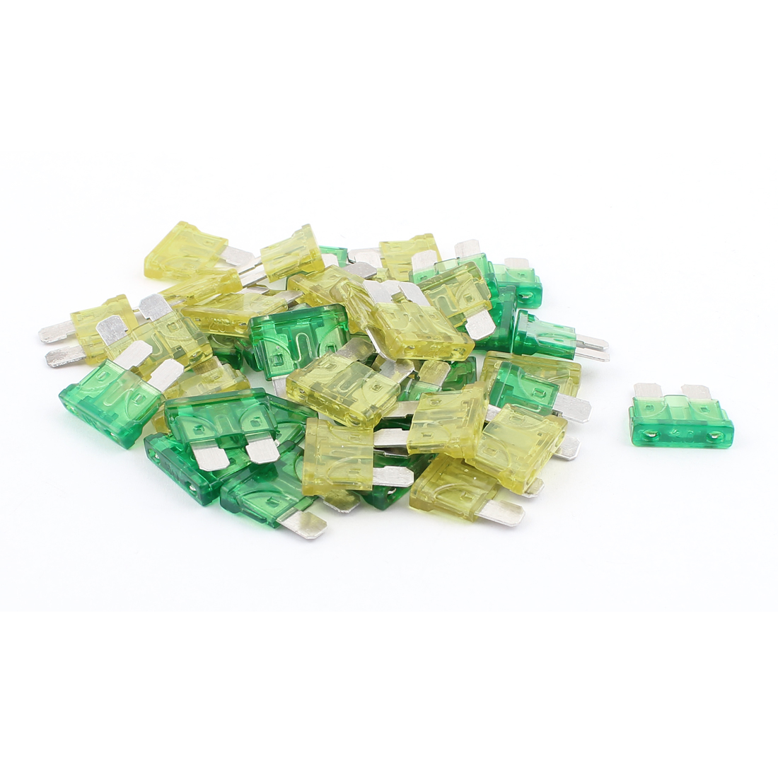 40pcs Automotive Car Vehicle Caravan SUV Boat ATC ATO Mini Blade Fuses 30A 20A Yellow Green