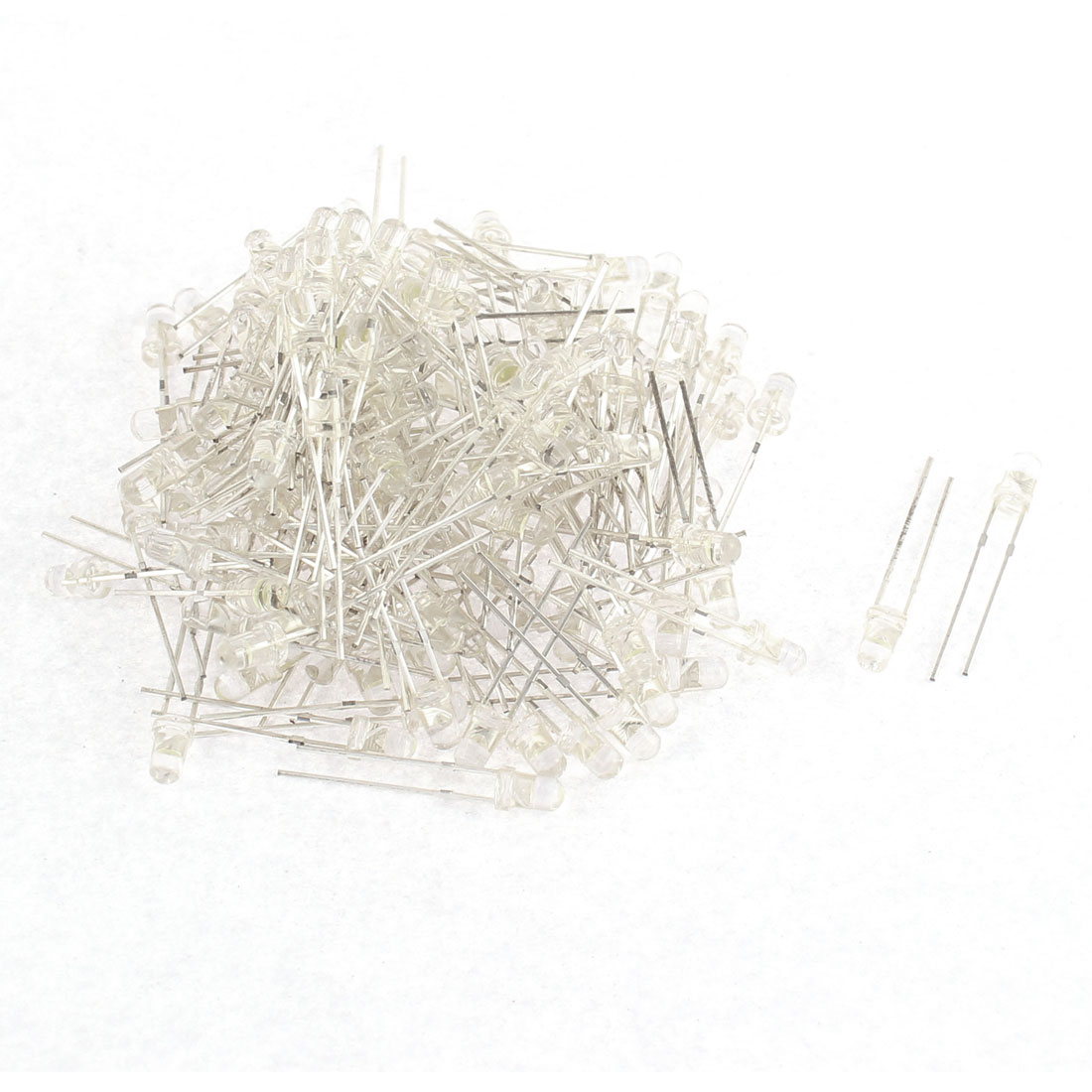 150pcs 3mm Round Emitting Diode White Color Diffused LED Light Beads