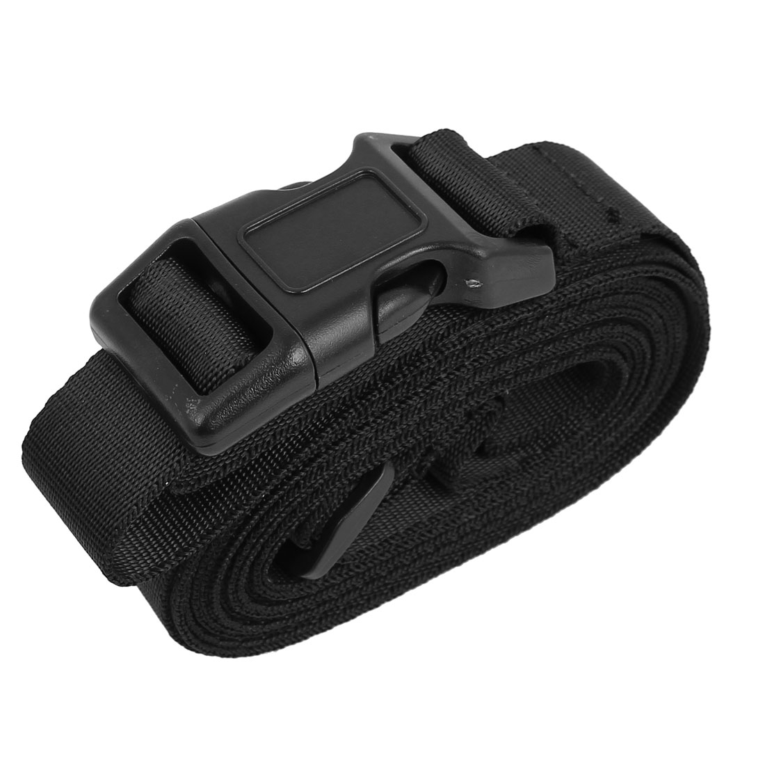 Quick Release Buckle Luggage Suitcase Backpack Baggage Adjustable Belt Strap Black 10Ft