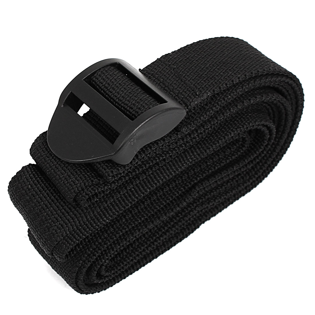 Plastic Buckle Luggage Suitcase Backpack Baggage Adjustable Belt Strap Black 3 Meter