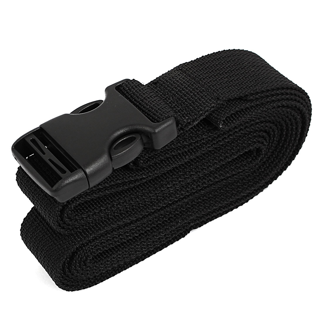 Quick Release Buckle Luggage Suitcase Backpack Baggage Adjustable Belt Strap Black 3 Meter