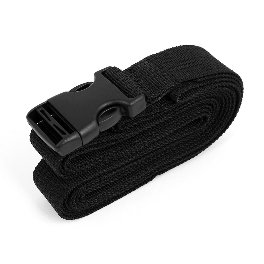Side Release Buckle Luggage Suitcase Backpack Baggage Adjustable Belt Strap Black 1.5M x 25mm