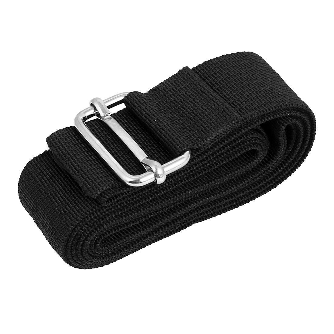 Metal Buckle Luggage Suitcase Backpack Baggage Adjustable Belt Strap Black 2M x 38mm