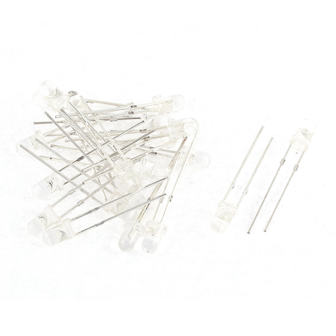 20pcs 3mm White Yellow Diffused Emitting Diodes LED DIY Lamps