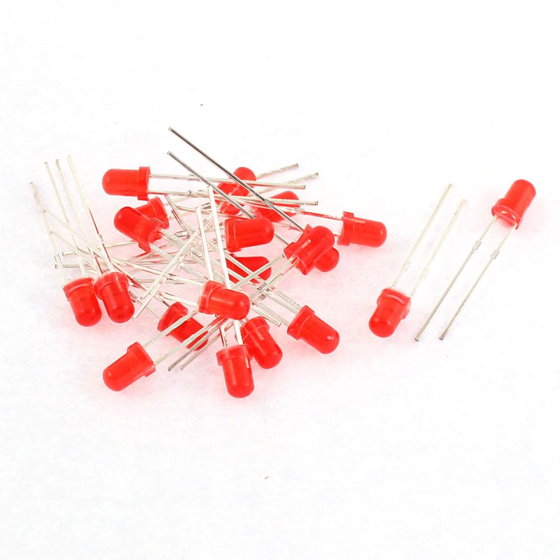 20pcs 2 Terminal 3mm Round Red Diffused LED Light Emitting Diode Beads