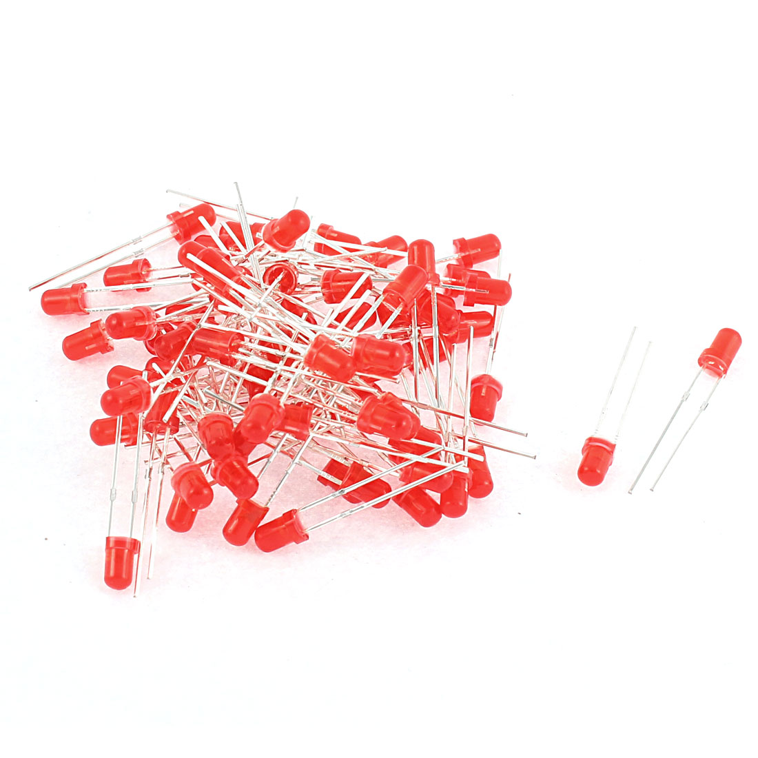 75pcs 3mm Round Head Red LED Light Emitting Diodes Beads Component