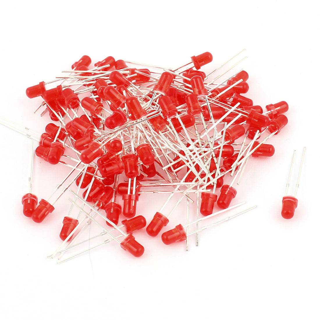 100pcs 3mm Round Top Red Emitting Diode LED Luminous Light