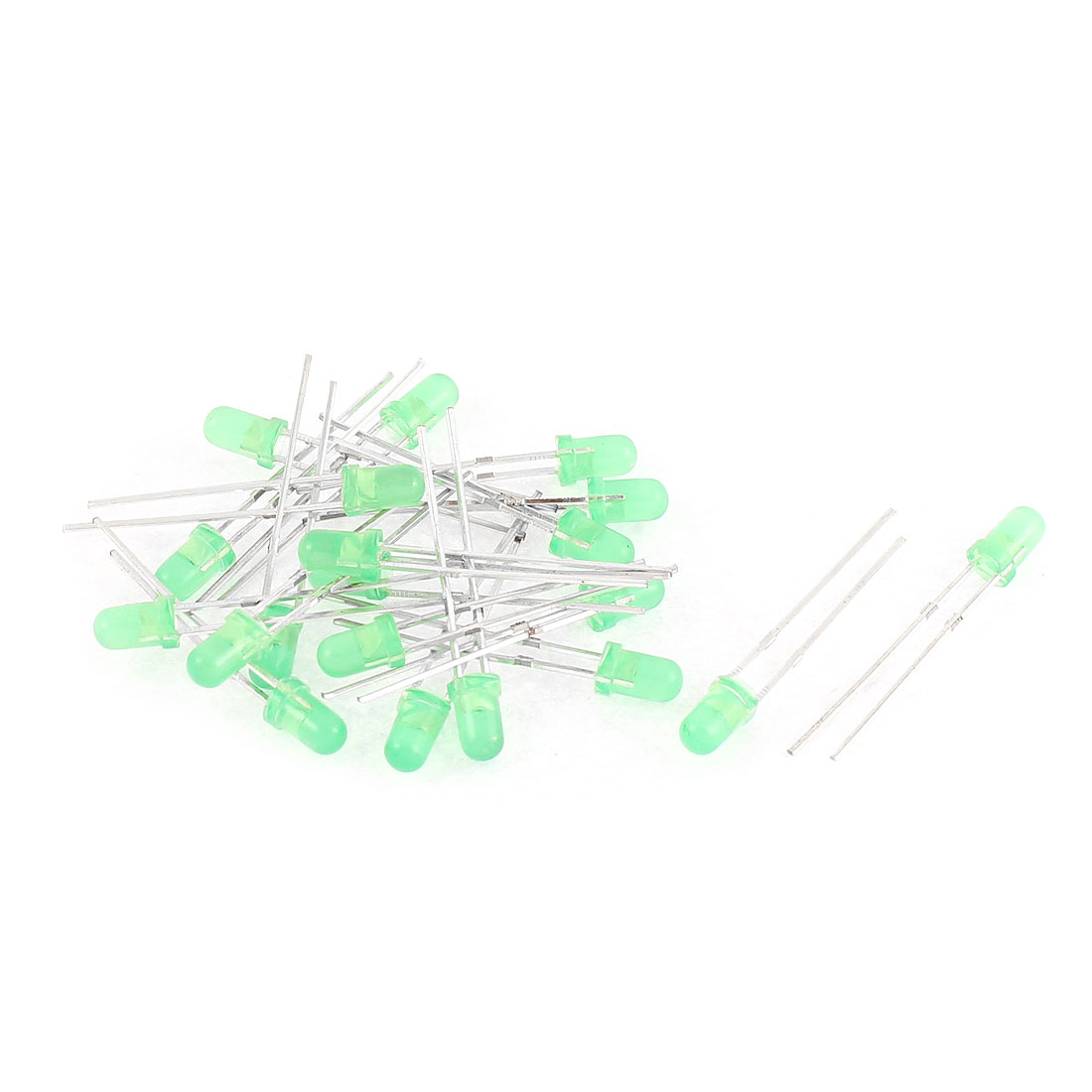 20pcs 3mm Bright Green Color Lights Round LED Emitting Diode Lamp Component