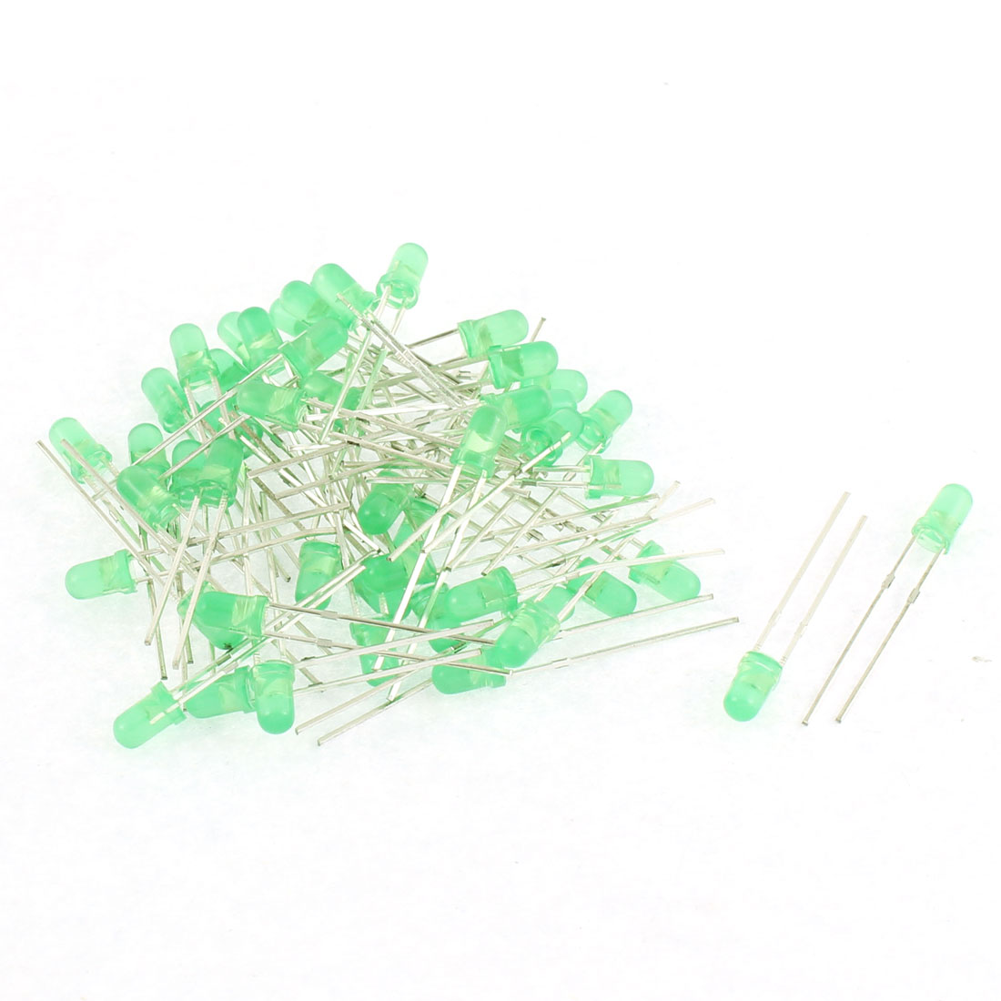 50pcs Green Light Diffused Emitting Diodes DIY LEDs Emitter Component