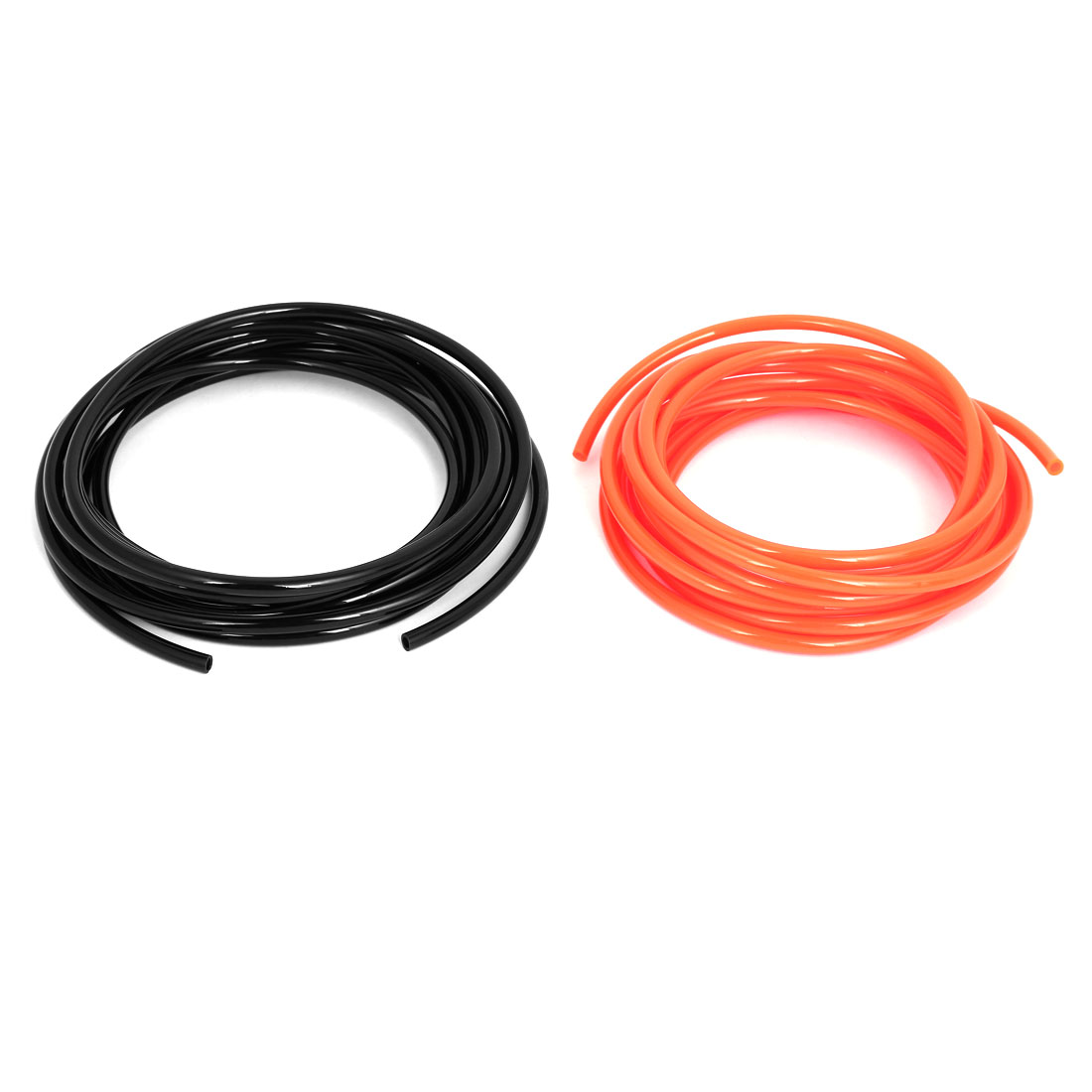 6mm x 4mm Dia Pneumatic Polyurethane PU Air Tube Tubing Pipe Hose Orange Black 2Pcs