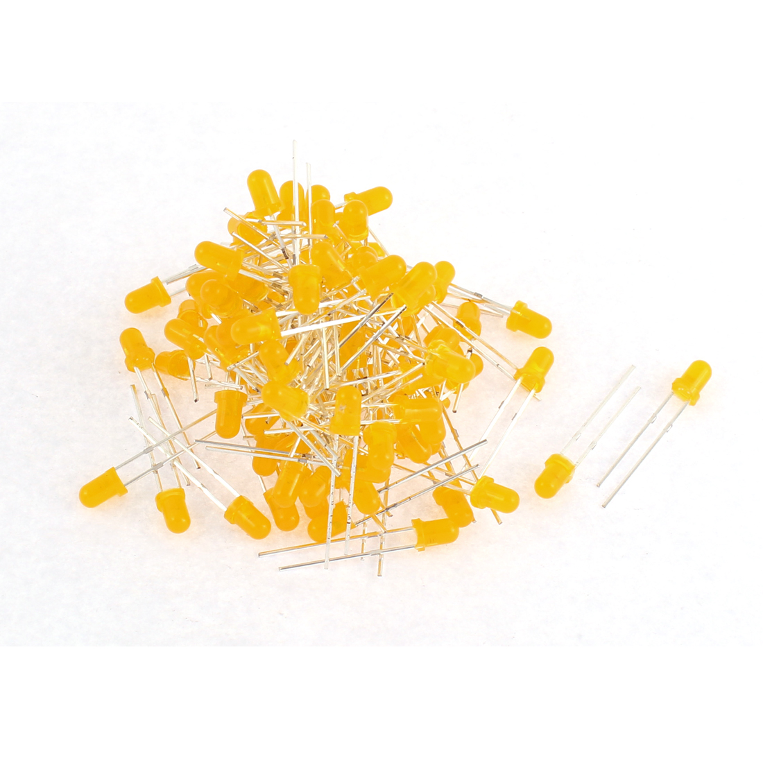 100pcs 3mm Yellow Color Diffused LED Light Emitting Diode Lamp Bulbs