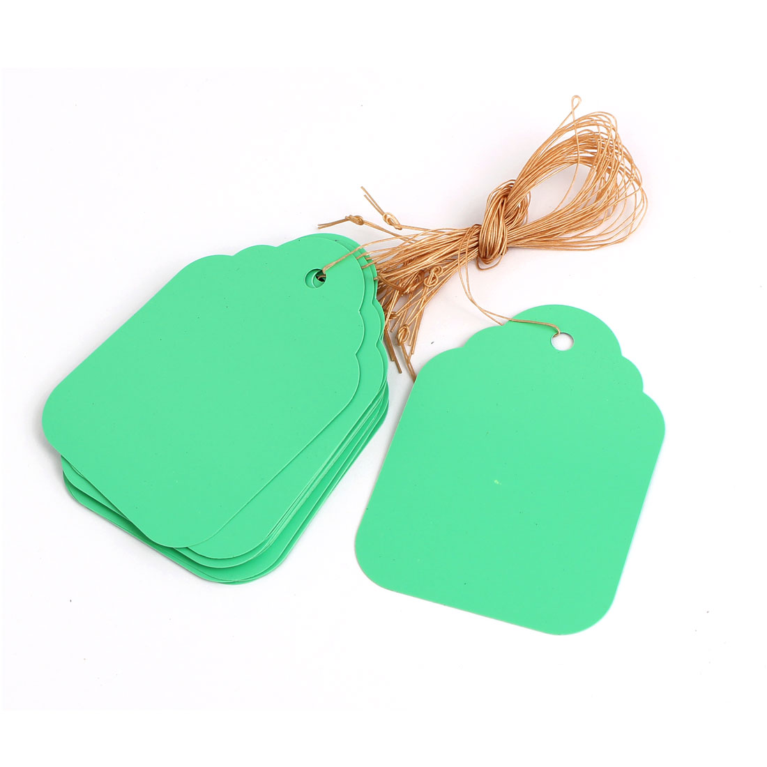 68mm x 49mm Plastic Nursery Garden Plant Seed Hanging Tag Label Marker Green 15Pcs