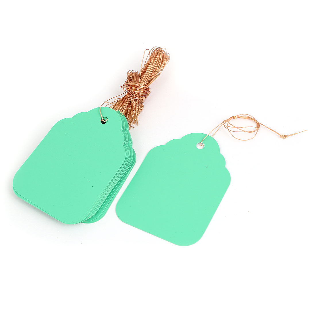 68mm x 49mm Plastic Nursery Garden Plant Seed Hanging Tag Label Marker Green 30Pcs