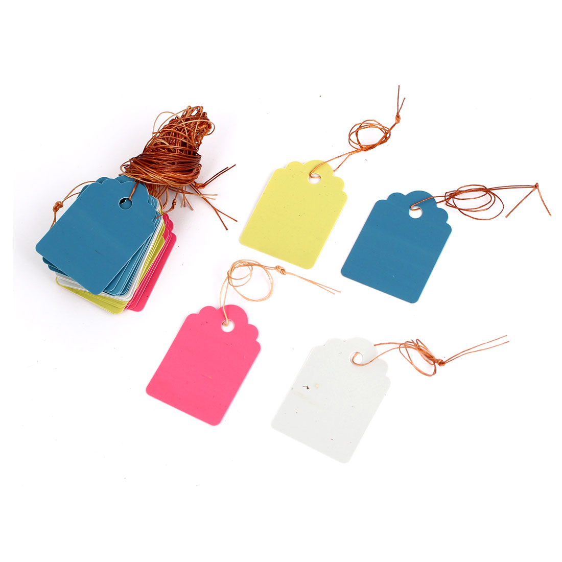 36mm x 25mm Plastic Nursery Garden Plant Seed Hanging Tag Label Marker Assorted Color 40Pcs
