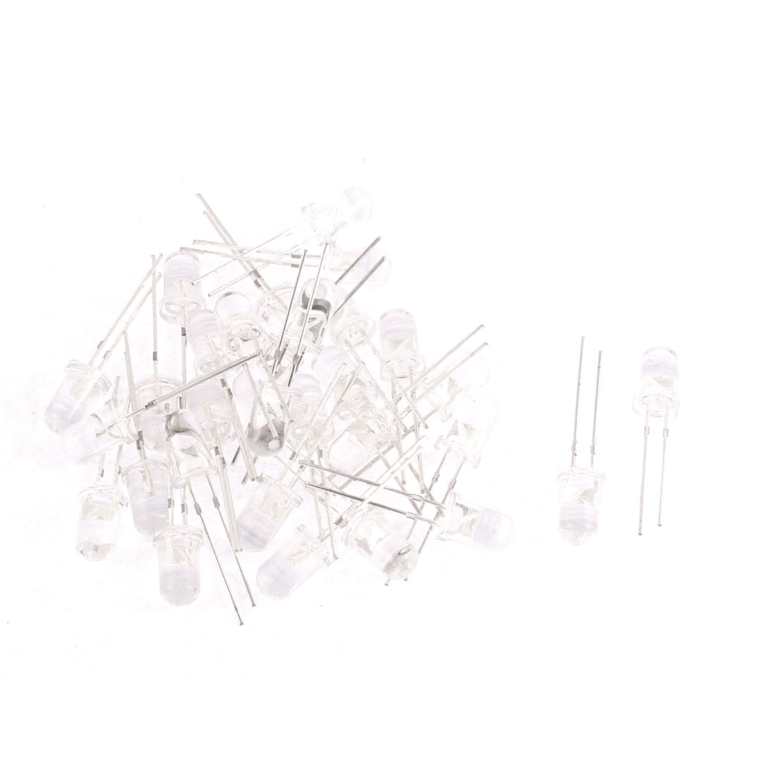 30pcs 5mm Round Head 2 Terminals Led Light Emitting Diode Buld Lamp