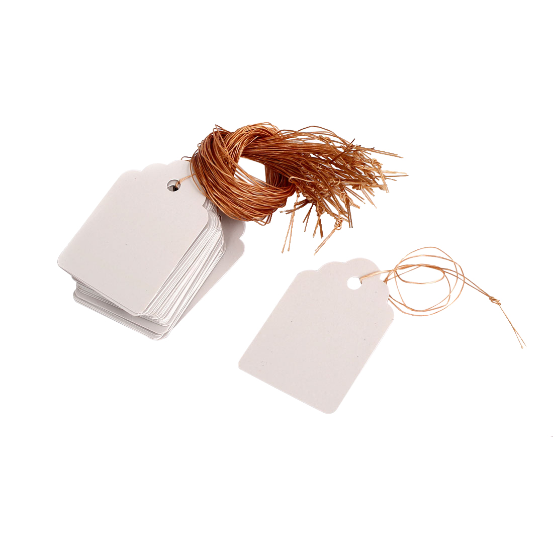 5cm x 3.4cm Plastic Nursery Garden Plant Seed Hanging Tag Label Marker White 50Pcs