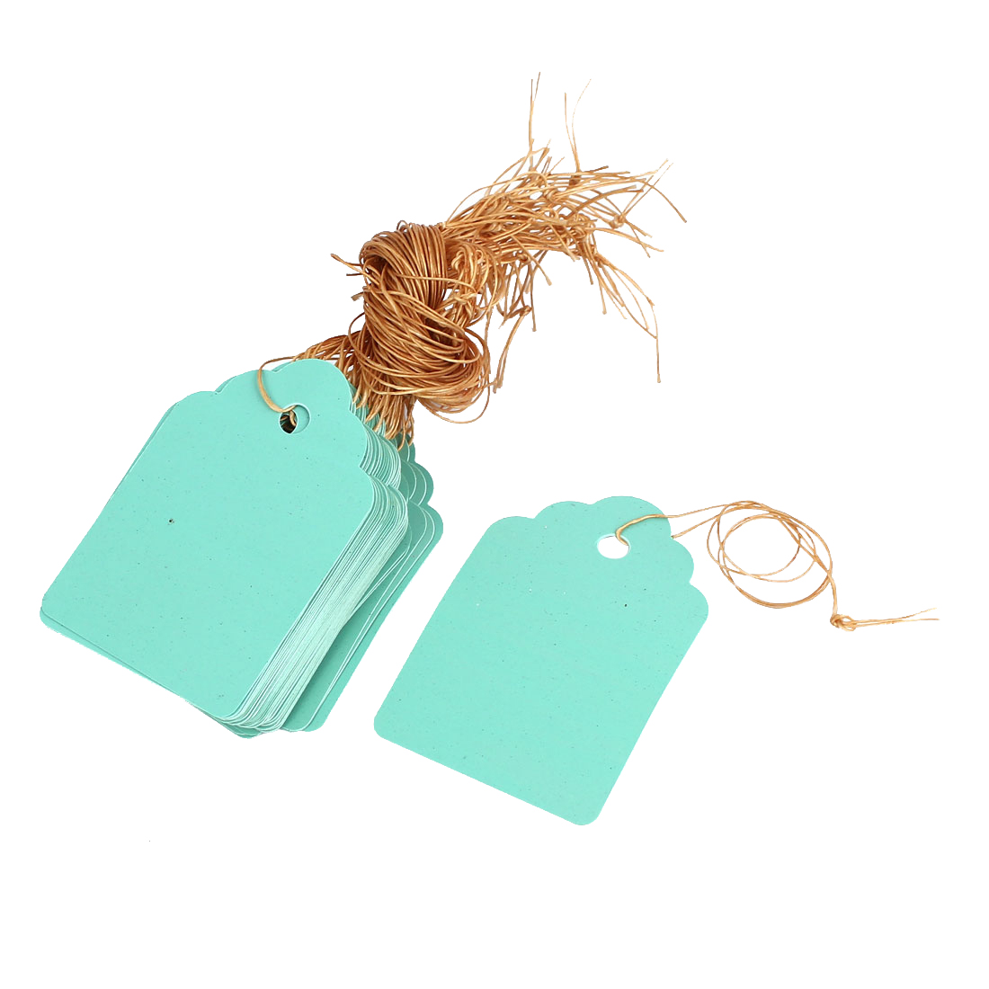 5cm x 3.4cm Plastic Nursery Garden Plant Seed Hanging Tag Label Marker Green 50Pcs