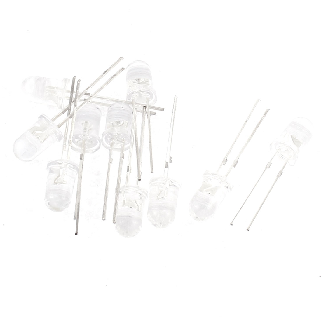 10pcs 5mm LED Yellow White Light Emitting Diode Lamps Bulds Component