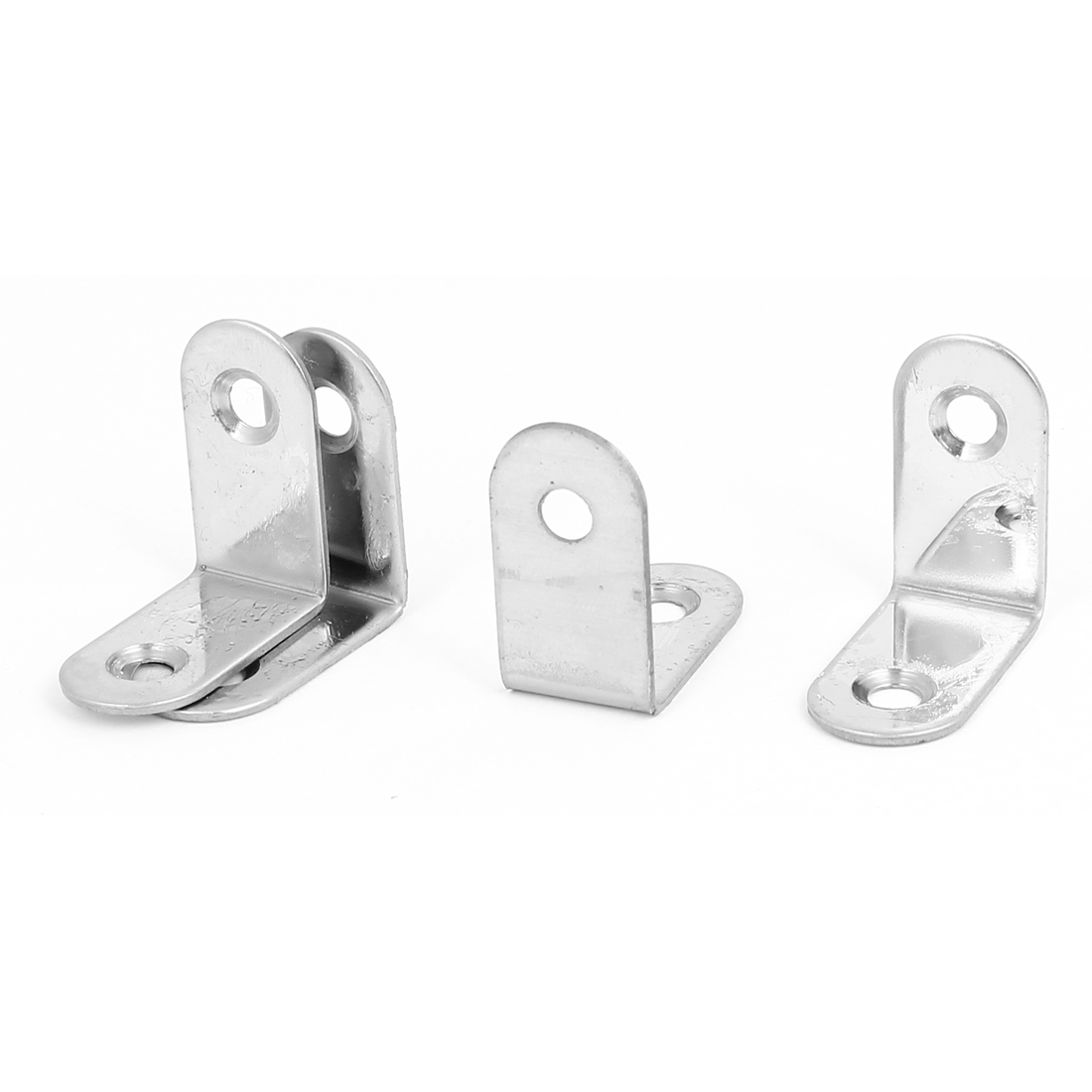 30mm x 30mm Shelf Support Corner Brace Joint Right Angle Metal Bracket 4Pcs