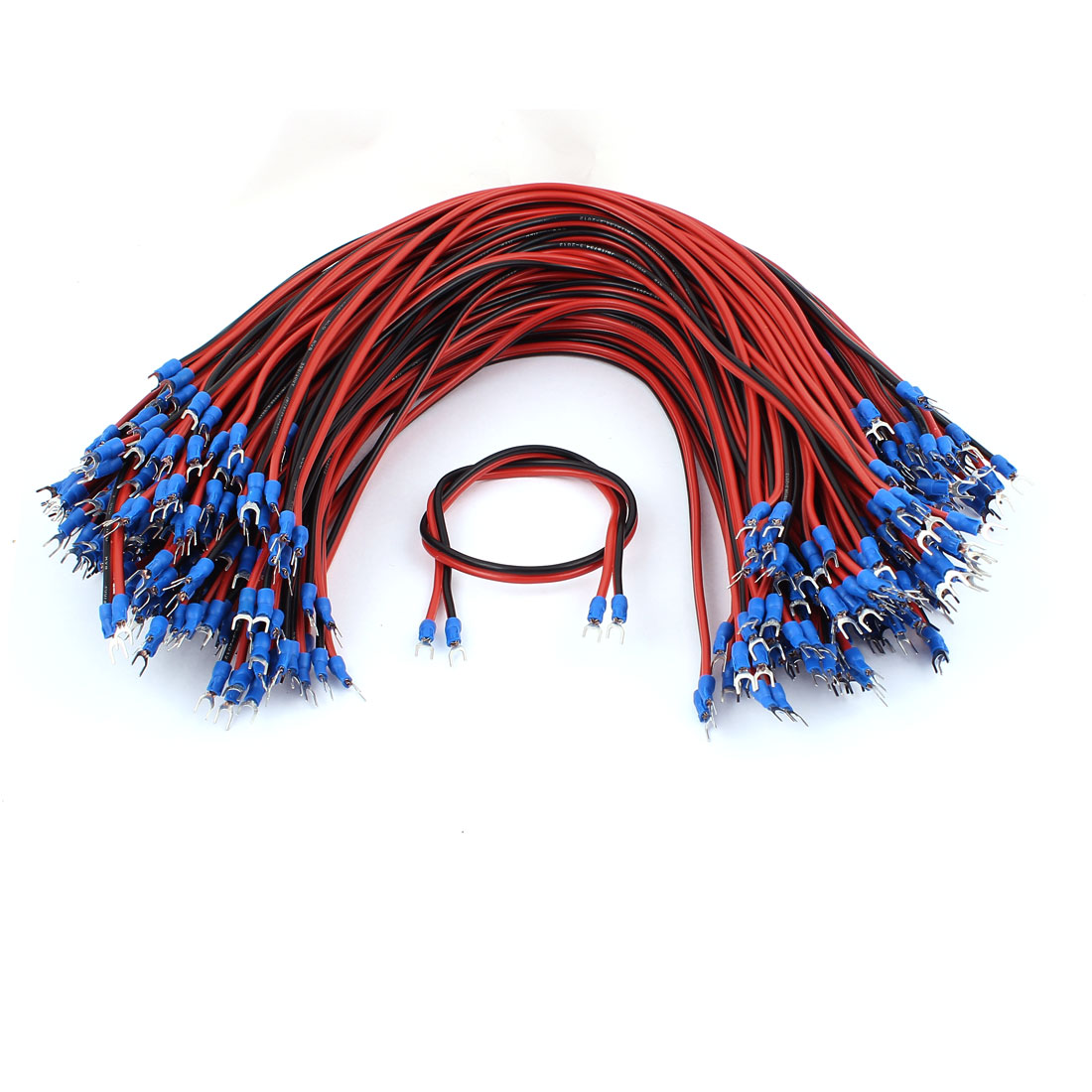 Fork Terminal RVB Parallel Lines Two Core LED Lamp Signal Cable 45CM 100 Pcs