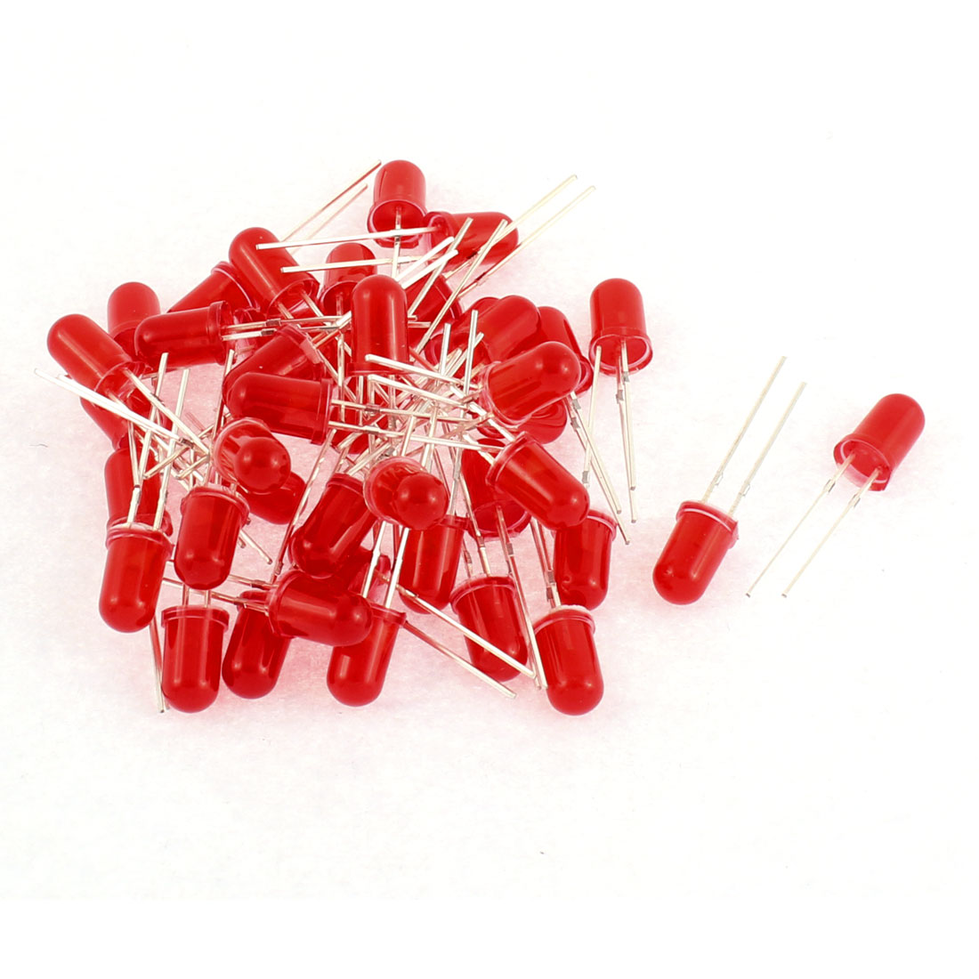 40pcs 5mm Round Top Red Light LED Luminous Emitting Diode Beads