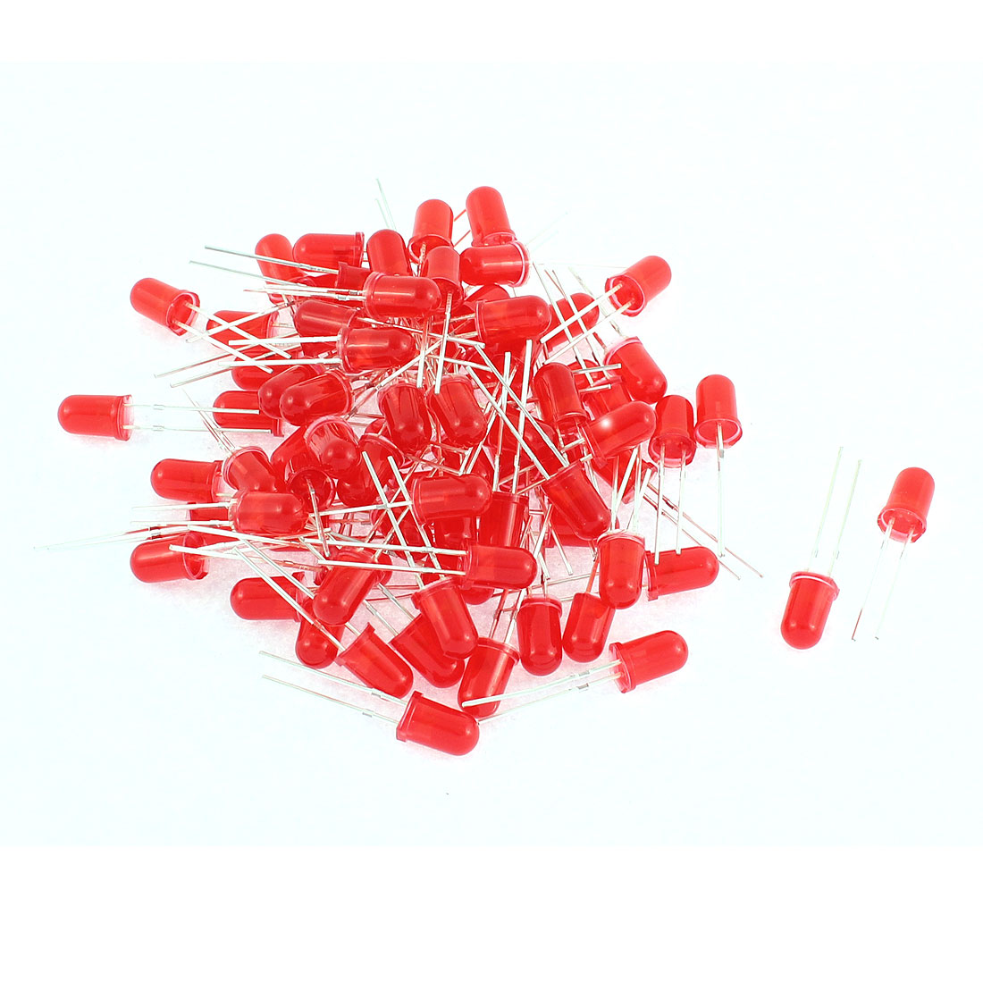 75pcs 5mm Round Top Red Light LED Emitting Diodes Component Beads