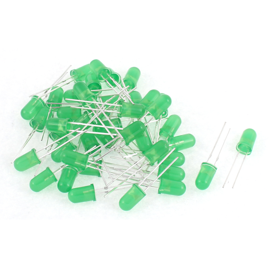 40pcs 5mm Green Color Round LED Light Emitting Diodes Diffused Component