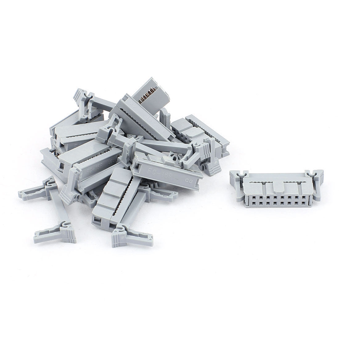 10 Pcs 2 Rows 16 Pins FC-16P IDC Socket Connector Male Header Light Gray