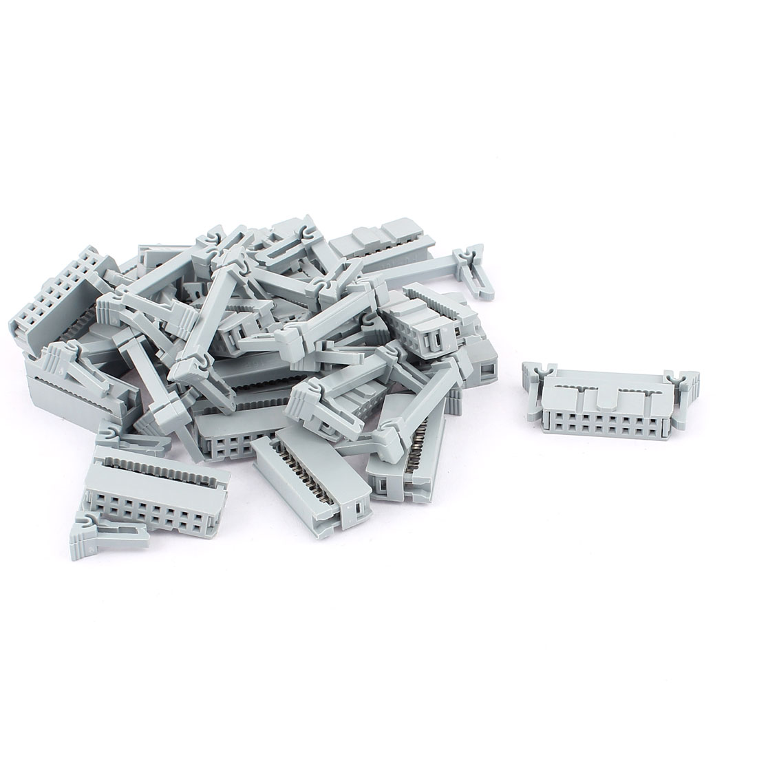 20 Pcs 2 Rows 16 Pins FC-16P IDC Socket Connector Female Header Light Gray