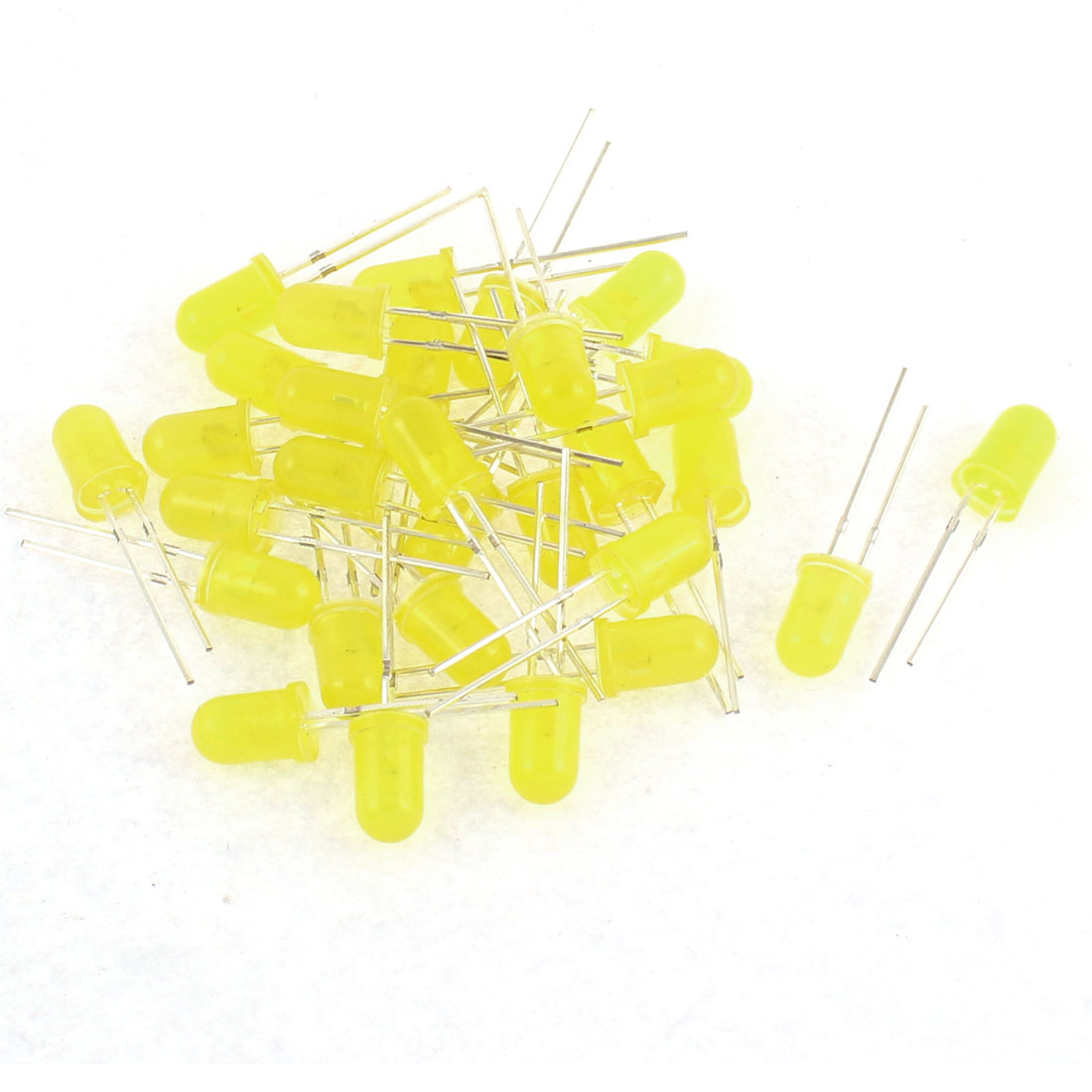 30pcs 5mm Round Color Yellow Light-emitting Diode DIY LEDs Component