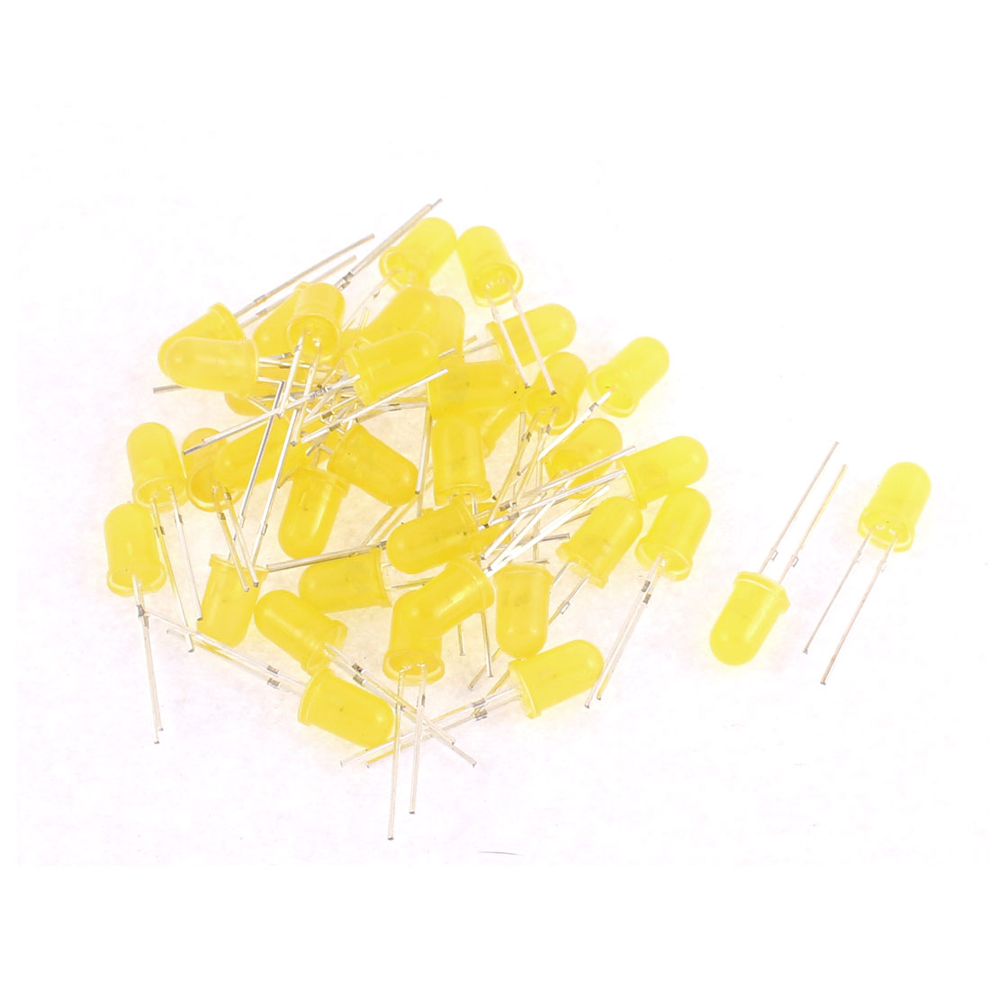 40pcs 5mm Yellow Color LED Light Emitting Diode Beads Lights Bulb Lamp