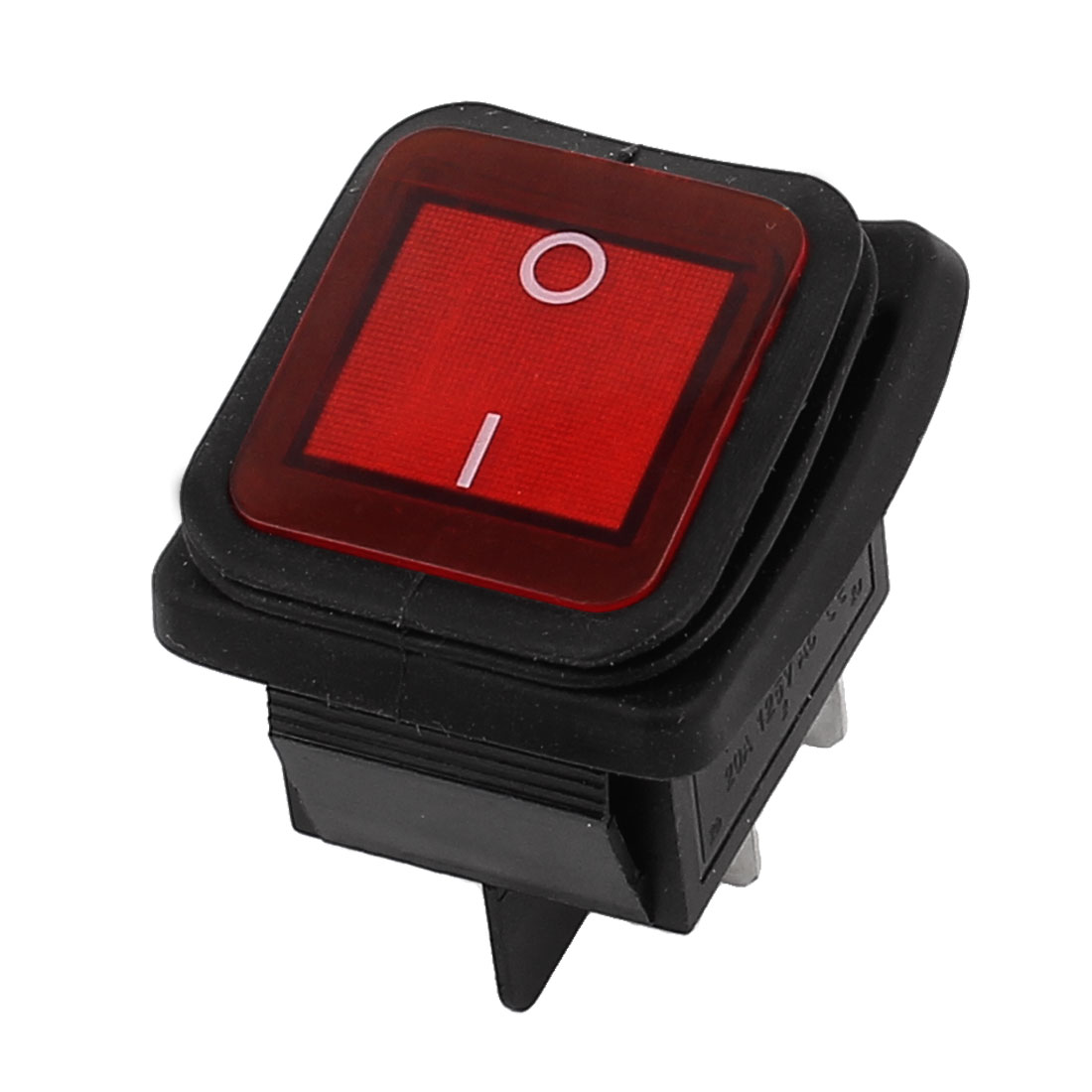 DPST 2 Position 4 Termimal Red Button Waterproof Boat Rocker Switch