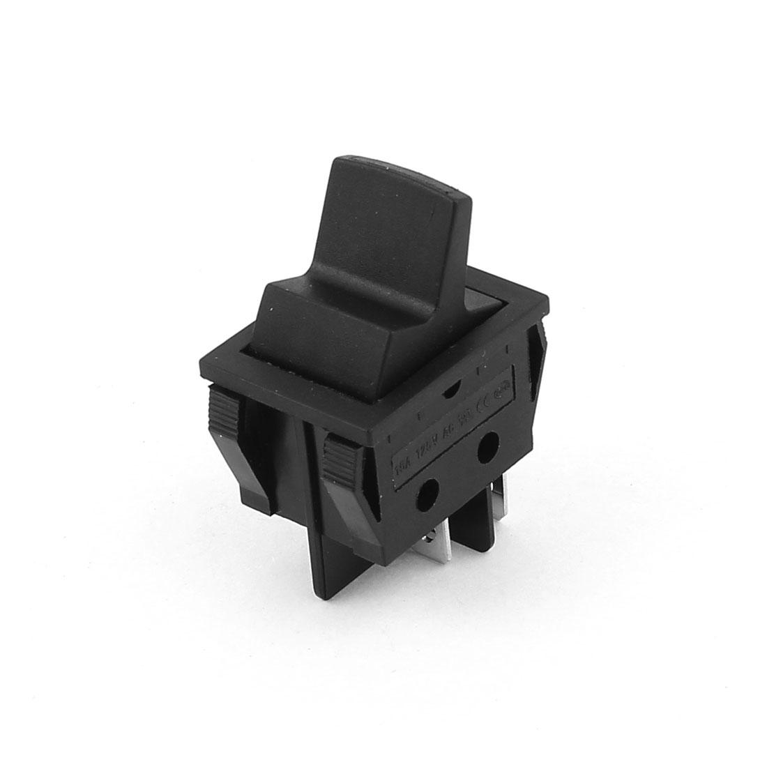 Plastic Casing 4 Terminal Momentary Rocker Switch AC 250V/16(8)A 125V/15A