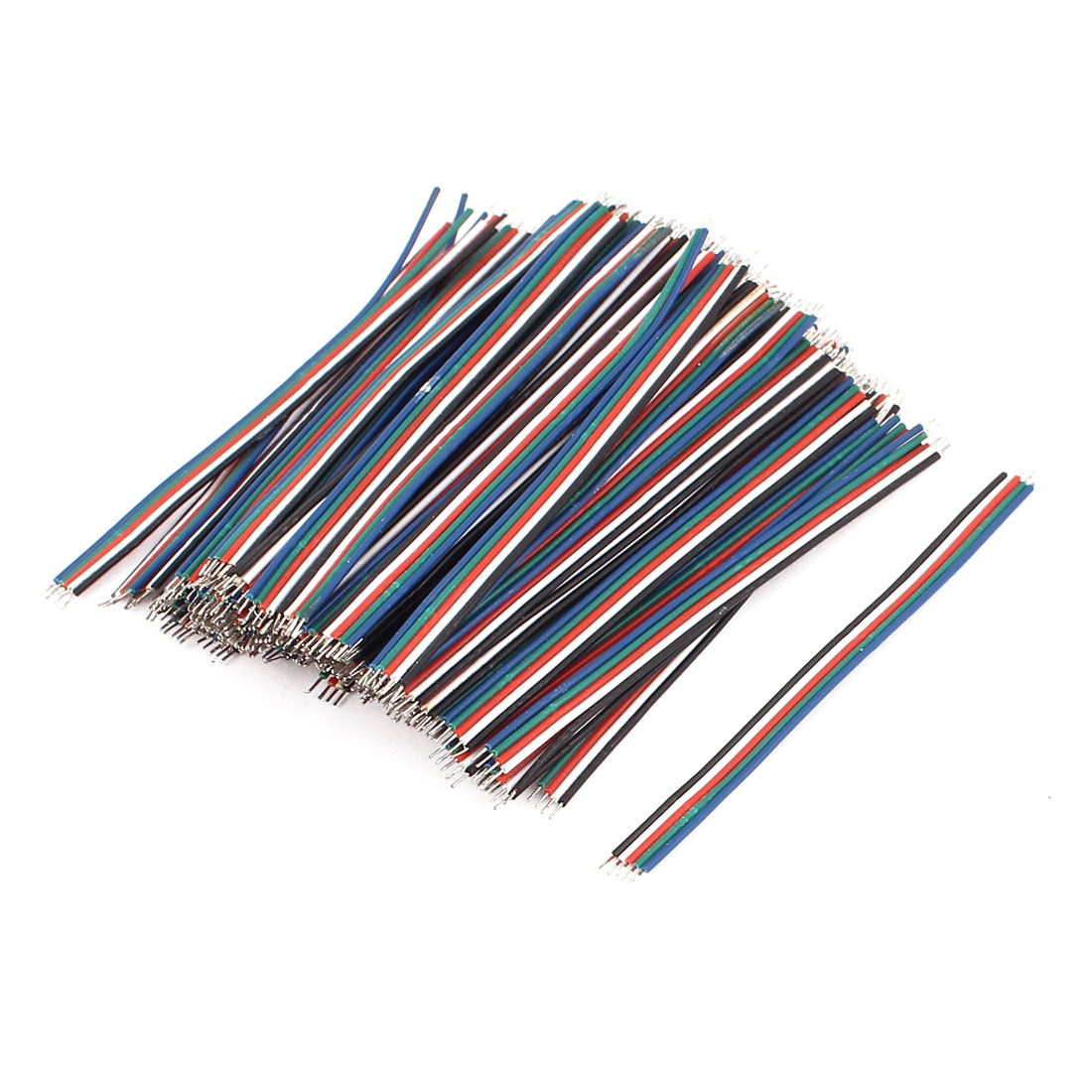 0.8mm x 65mm 5 Terminals Electric Insulated Flexible PVC Wire Cable 100Pcs