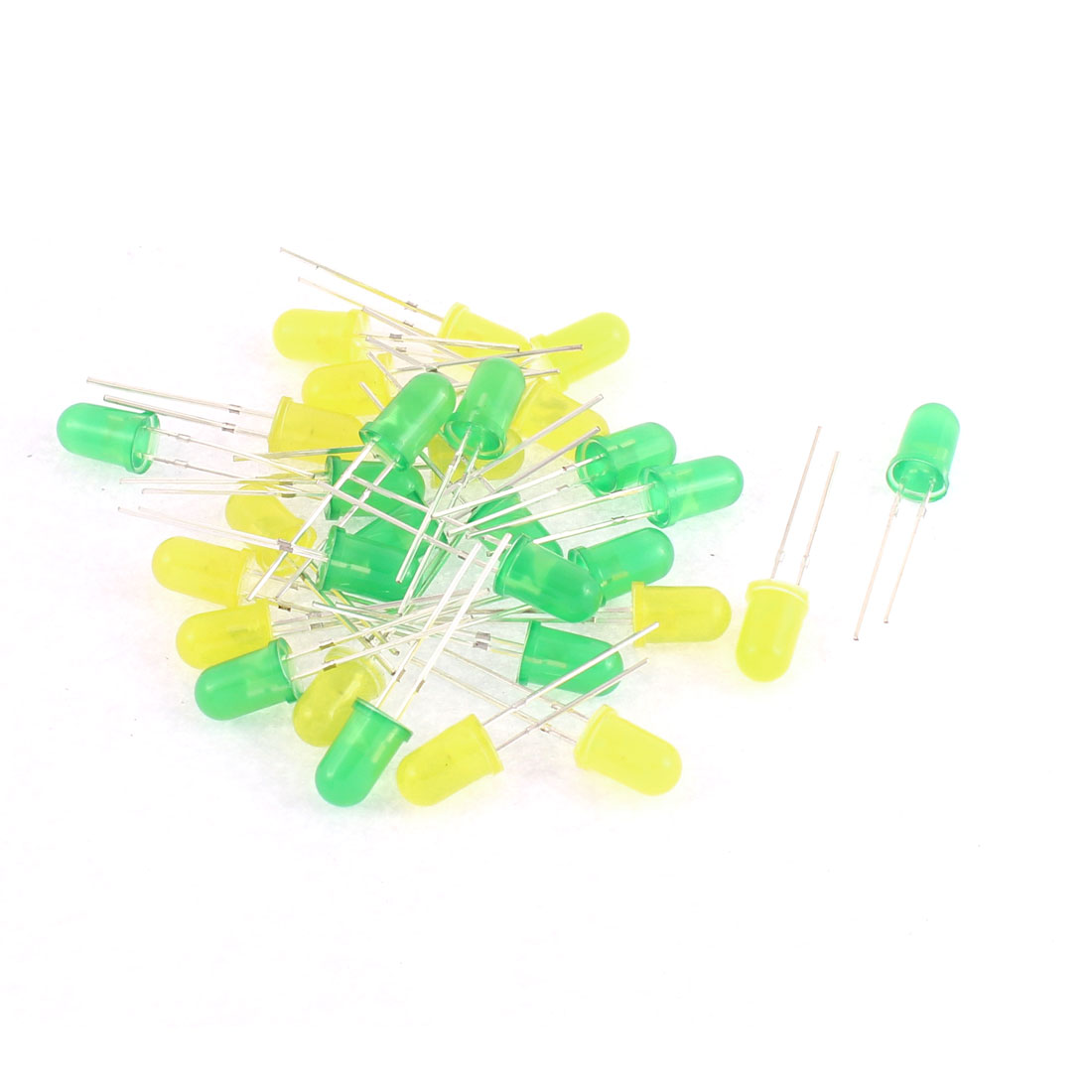 30pcs 5mm Round Yellow Green LED Light-emitting Diode Lamp Beads