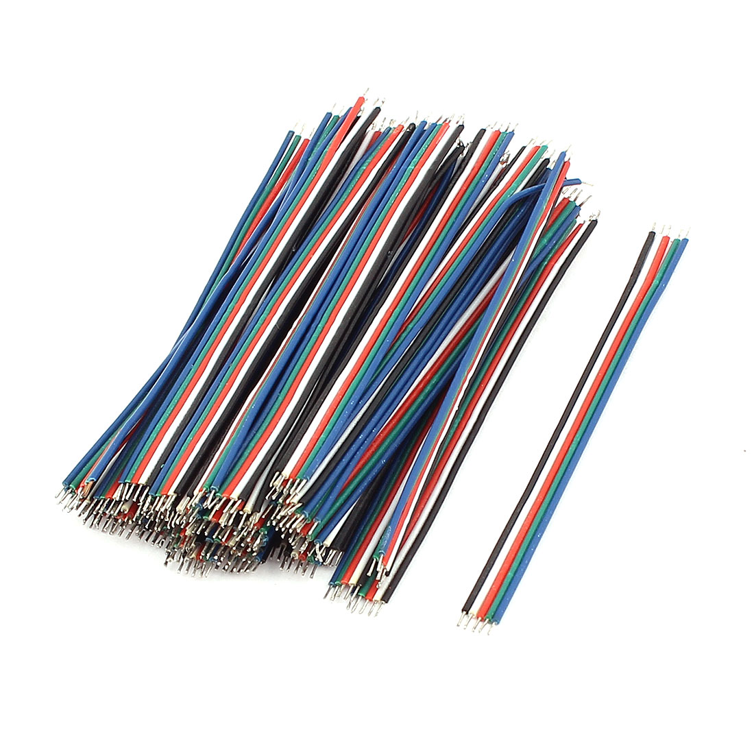 0.8mm x 65mm 5 Terminals Electric Insulated Flexible PVC Wire Cable 50Pcs