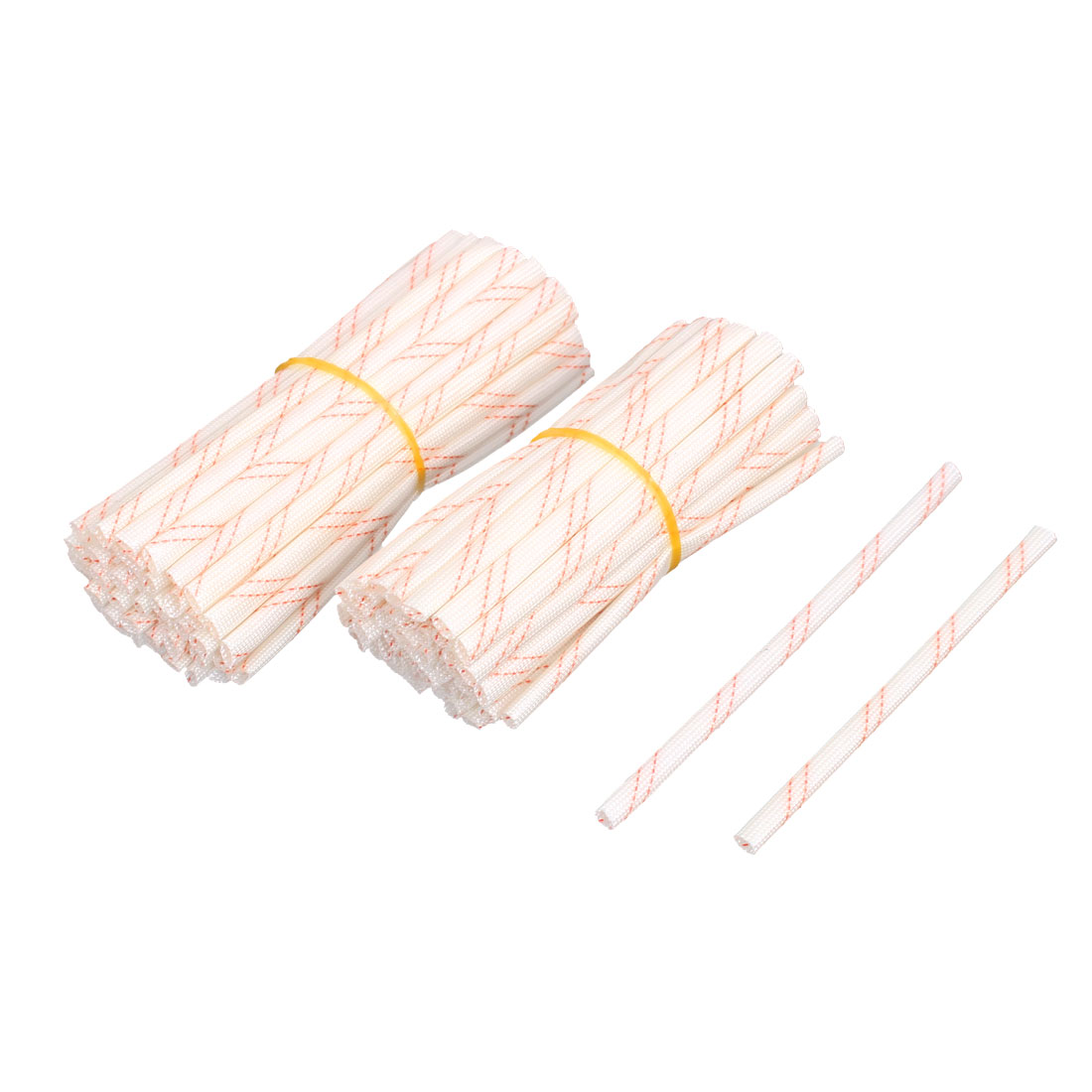 Electrical Wire PVC Fiberglass Insulating Tube Hose Sleeve 100Pcs 4mm Inner Dia 100mm 120mm