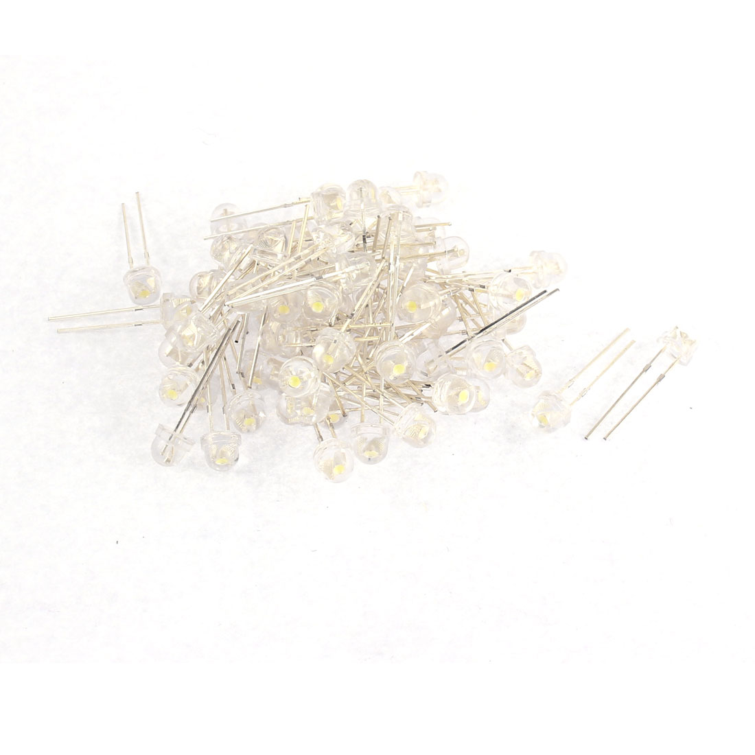 75pcs Straw Hat Head Ultra-Bright White Light LED Emitting Diodes Bulb