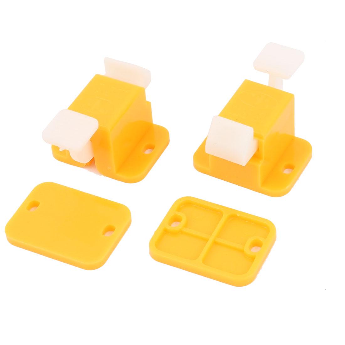 PCB ICT Prototype Test Fixture Jig Edge Latches Yellow White 2Pcs