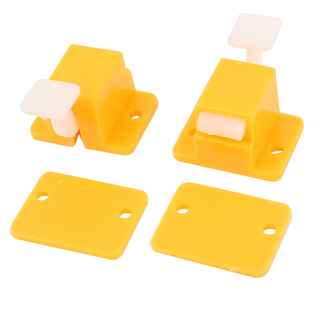Plastic PCB Board DIY Edge Latch Prototype Test Fixture Jig Yellow 2Pcs