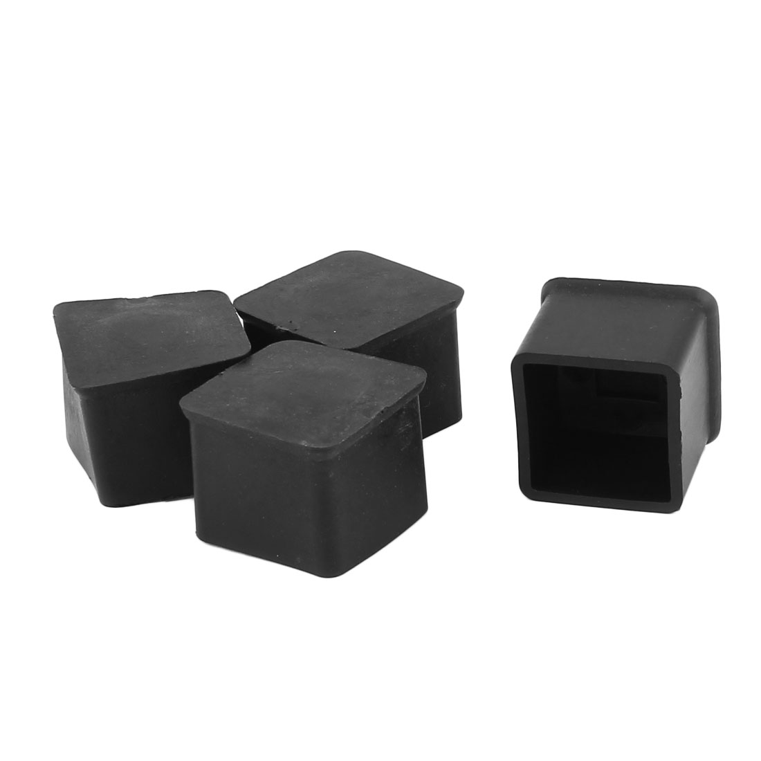 4Pcs Square Rubber Furniture Table Foot Leg Cover Pad Floor Protector 25 x 25 x 21mm