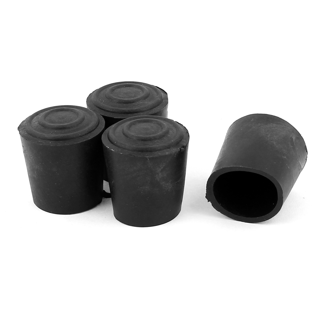 22mm Inner Dia Cylinder Shaped Rubber Furniture Table Leg Cap Foot Protector Cover 4Pcs