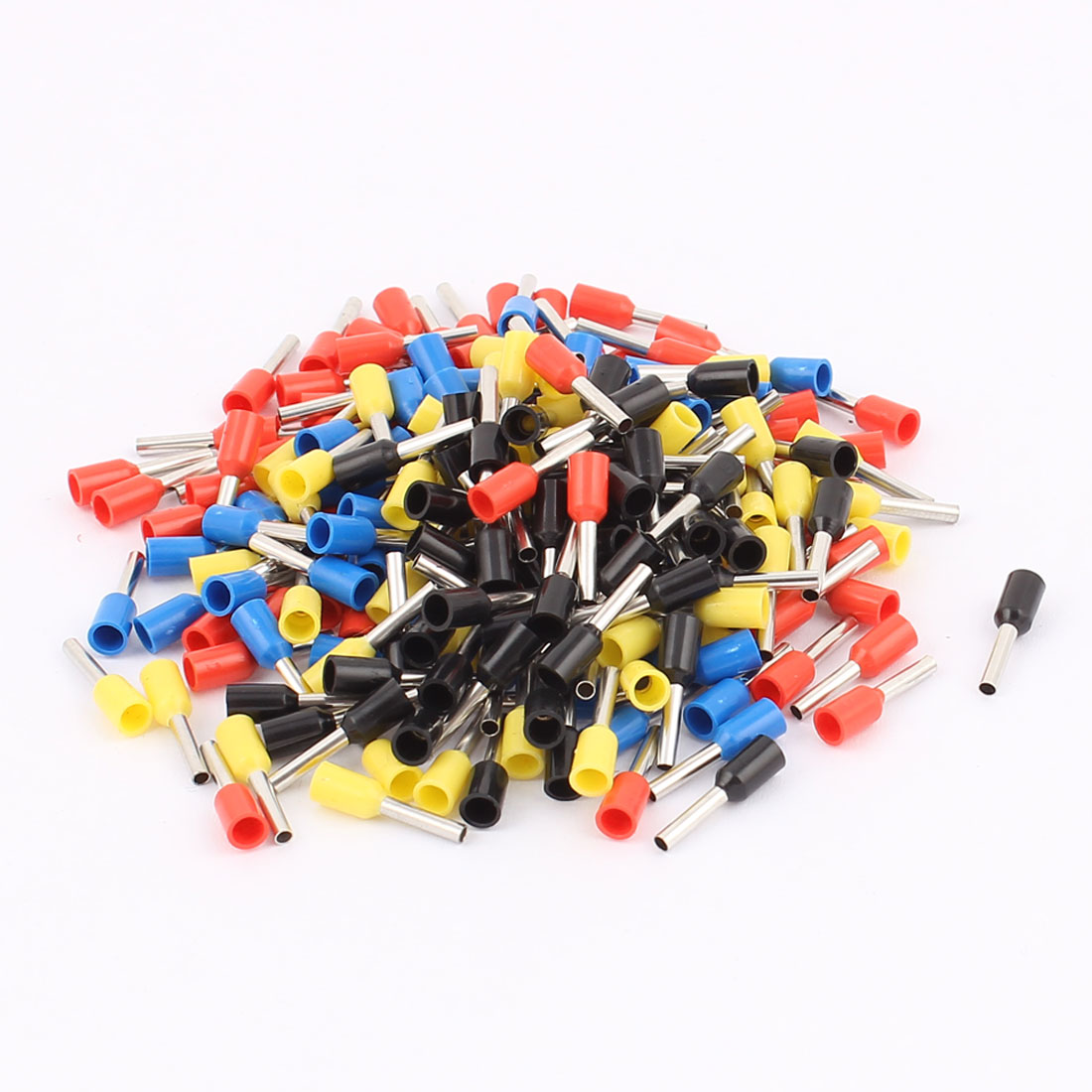 200Pcs E1008 18AWG Plastic Tube Insulated Cable Wire Ends Terminals