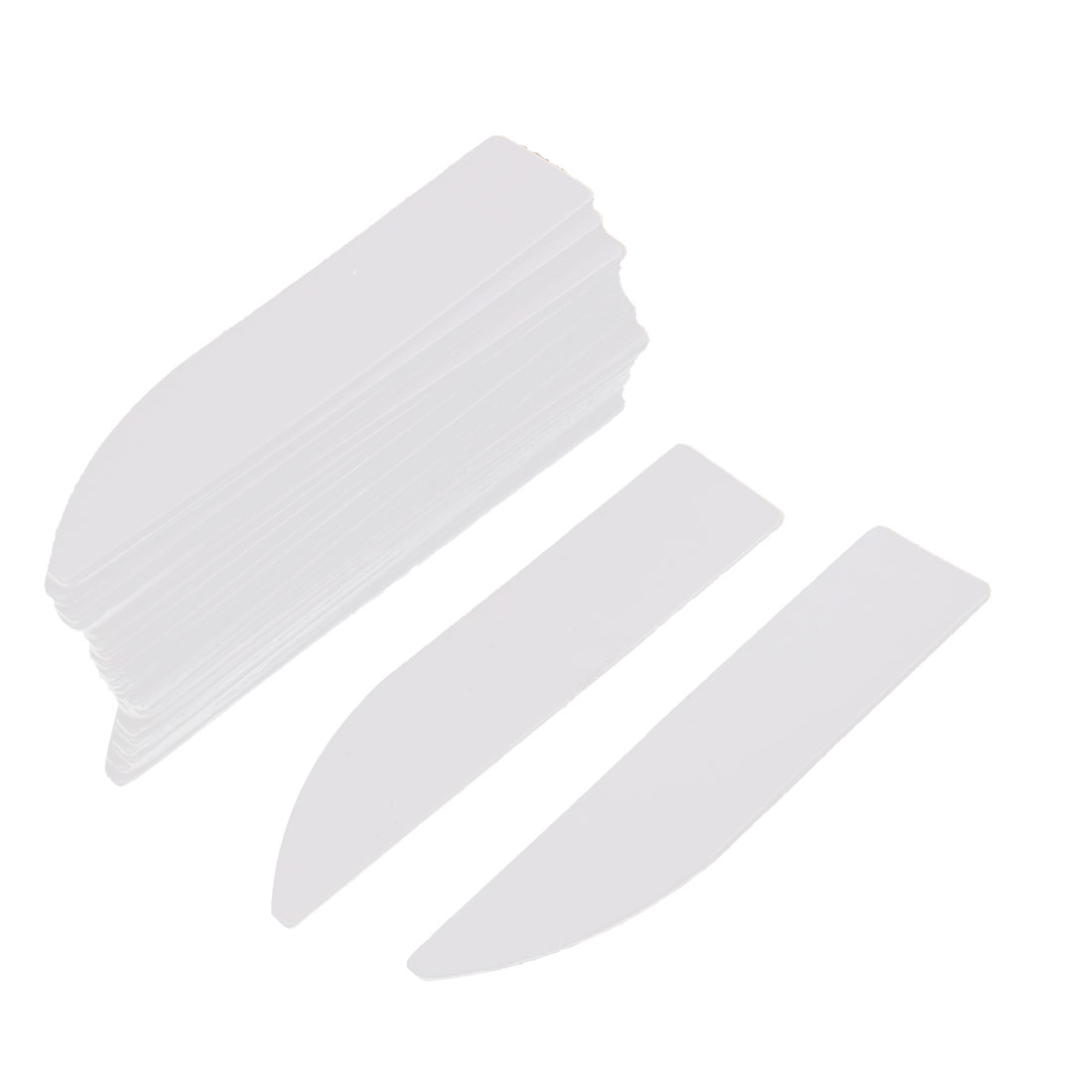 50mm x 11mm Plastic Nursery Garden Plant Seed Tag Label Pot Marker White 26Pcs