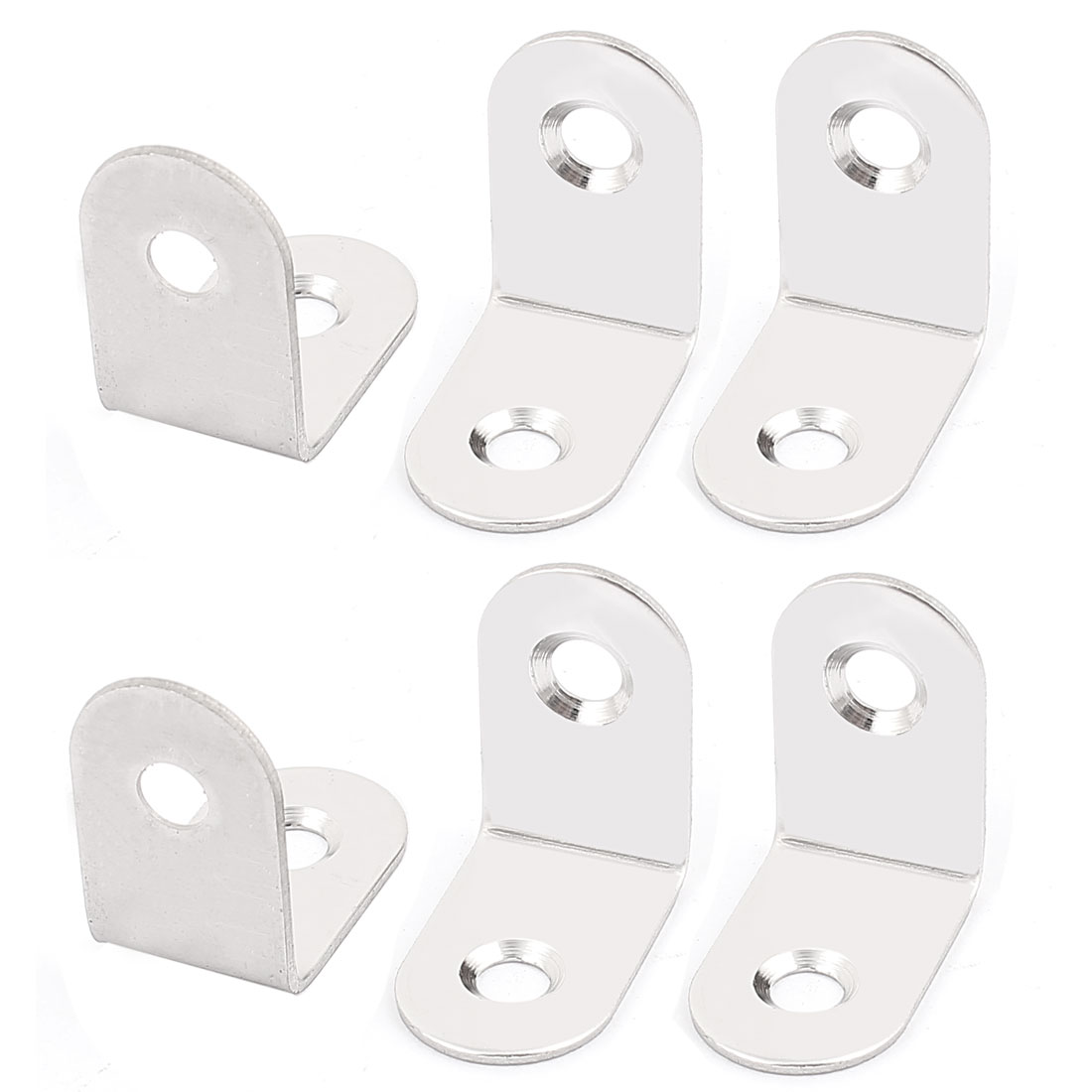 25mmx25mmx16mm L Shape Shelf Corner Brace Repair Right Angle Bracket 6Pcs