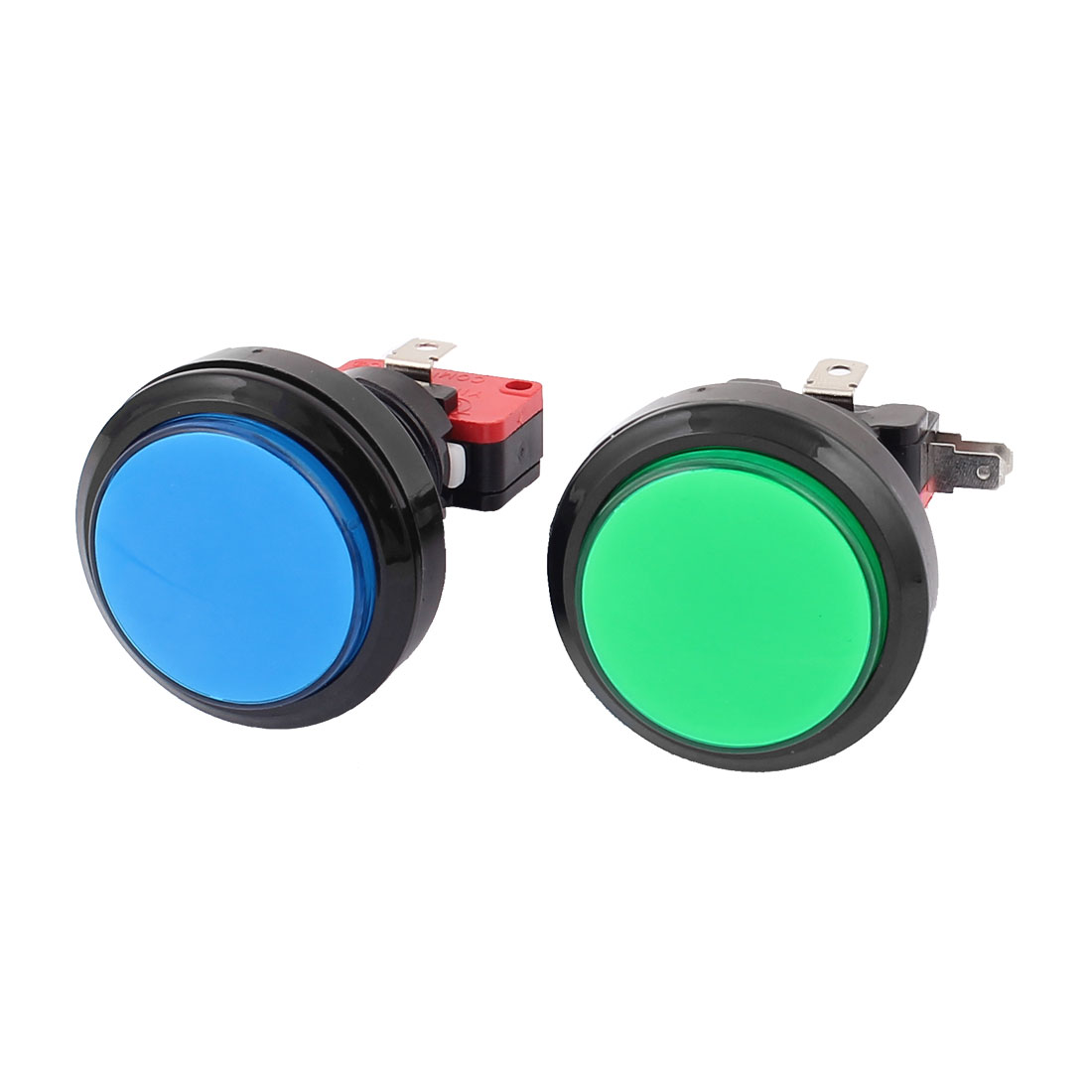 23mm Dia Thread Panel Mounting Spring Load Arcade Game Machine Push Button Switch 2Pcs