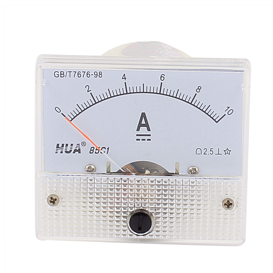 DC 0-10A Gauge Current Measuring Ampere Meter Analog Ammeter