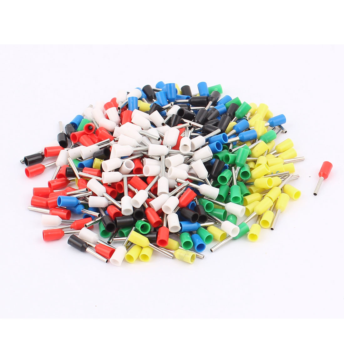 360Pcs E0508 22AWG Tube Tublar Style Insulated Cable Wire Ends Terminals