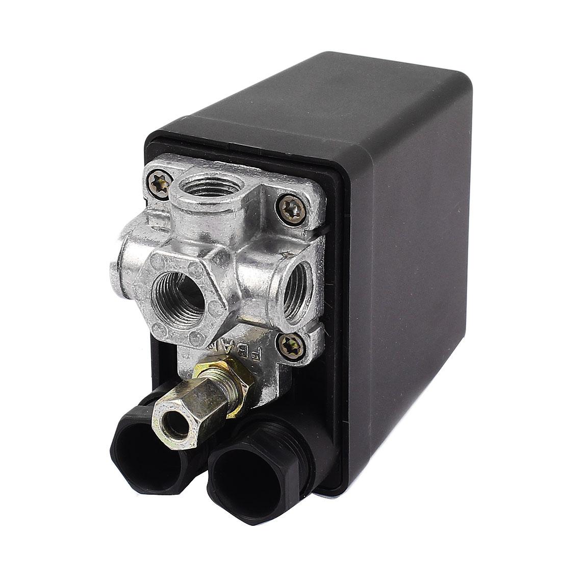 AC 240V 1/4BSP 4 Port 1.2Map 175PSI Air Compressor Pressure Switch Control Valve