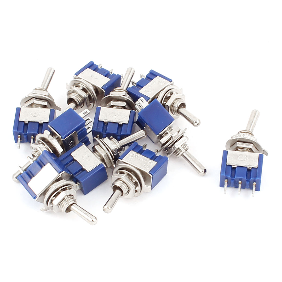 10Pcs AC 125V 6A Latching SPDT 2 Position ON-ON Toggle Switch